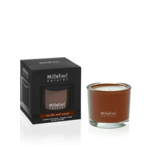 MM Natural Vanilla and Wood Scented Candle